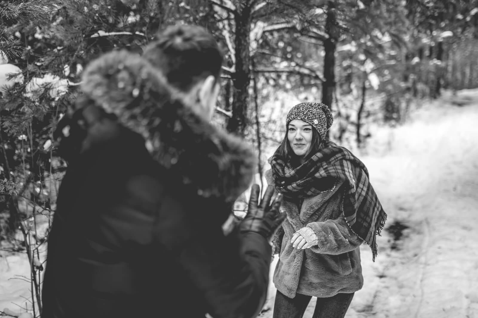 Sesja narzeczenska Anita i Adrian 10 01 2021 Marta Trzcinska Fotografia 7 - Zimowa sesja narzeczeńska Anity i Adriana - Starogard Gdański